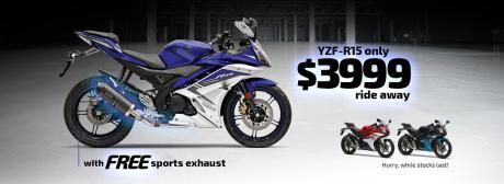 YZF-R15 Triple Bonus